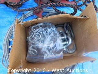Bulk Lot of Cable/Fence Stretcher and Hooks