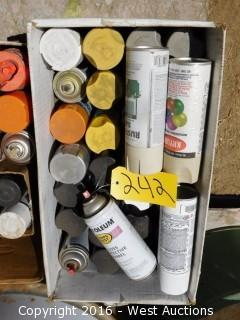 Two Boxes of Spray Paint